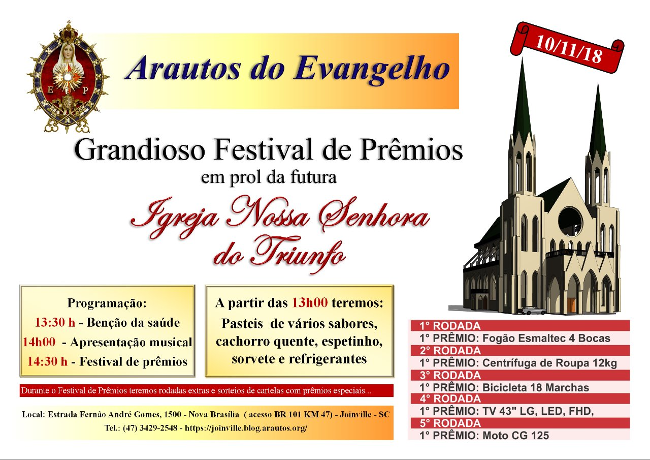 Convite: Grandioso Festival de Prêmios