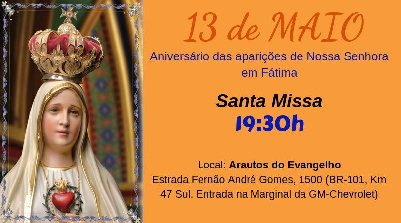 Convite especial: 13 de maio