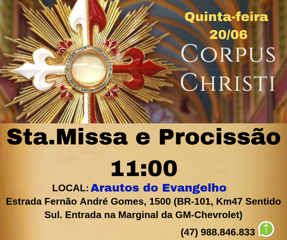 Convite: Solenidade de Corpus Christi