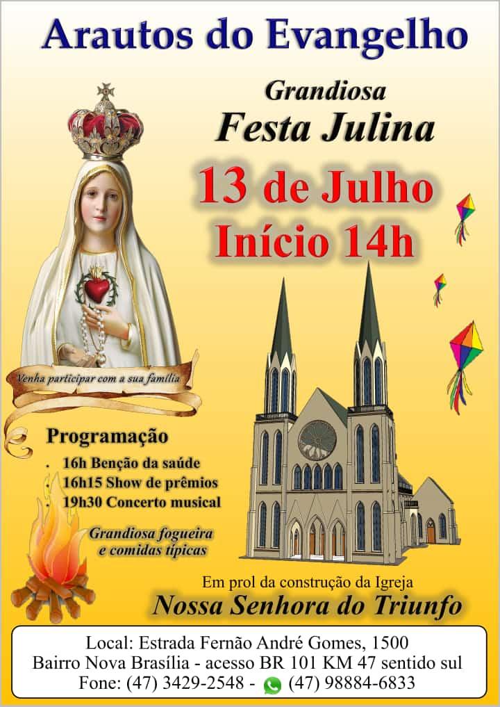 Participe! Grandiosa Festa Julina será neste sábado!